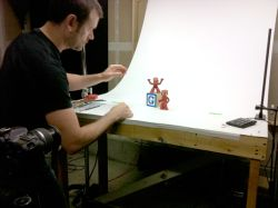 Scott animating the Google doodle