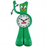 Gumby animated clock