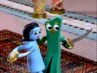 Tara and Gumby dance with swords