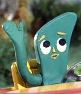 Gumby Driving and Waving