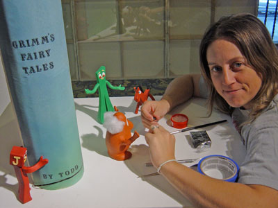 Nicole-LaPointe-McKay animating gumby
