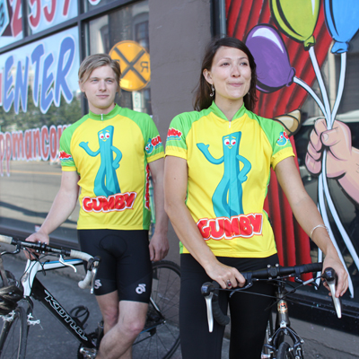 Gumby cycling jerseys for men and women