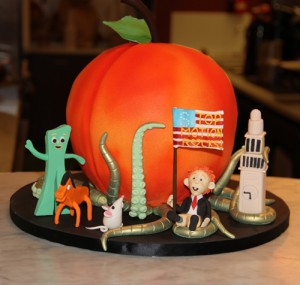 Gumby, James and the Giant Peach Cake