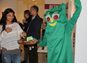 Gumby caterer serving