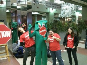 Gumby and Volunteers at the Montreal Film Fest