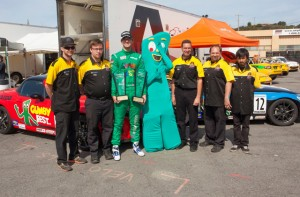 Kenton Koch with Gumby and his race team