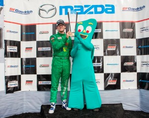 Kenton Koch and Gumby at Podium. They take first place!