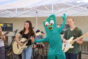 Band with Gumby at Gumby Fest