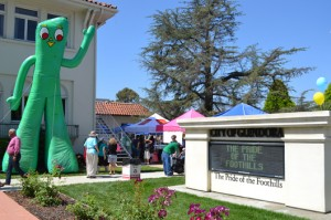 Gumby at Glendora City Hall - Gumby Fest