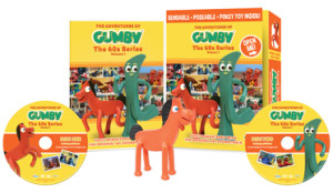 Gumby 1960s DVD gift set with Pokey bendable toy