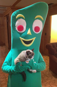 Gumby with Grumpy Cat