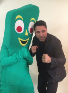 Gumby boxing with La Hoya