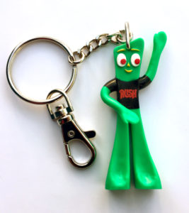 Gumby Rush key chain