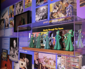 Animation Exhibit - Gumby puppets and timeline